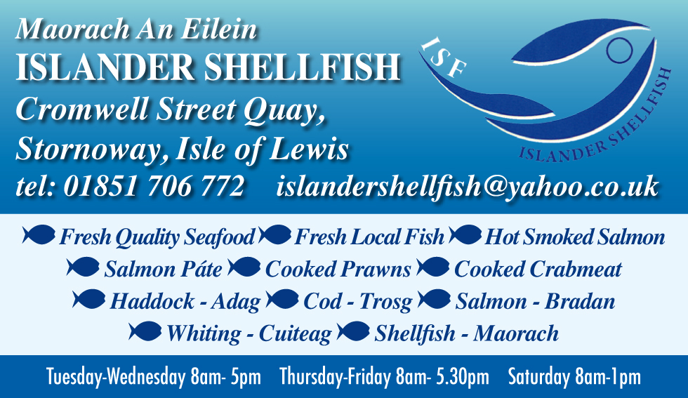 Islander Shellfish summer 2019