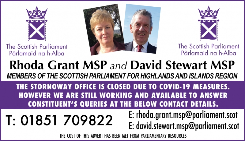 Rhoda Grant and David Stewart MSP